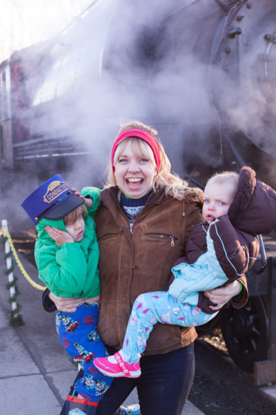 Tips for riding the Polar Express Train Ride with special needs kids. From EatingRichly.com