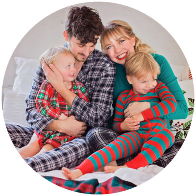 Eating Richly Johnson family Christmas Pajama Portraits