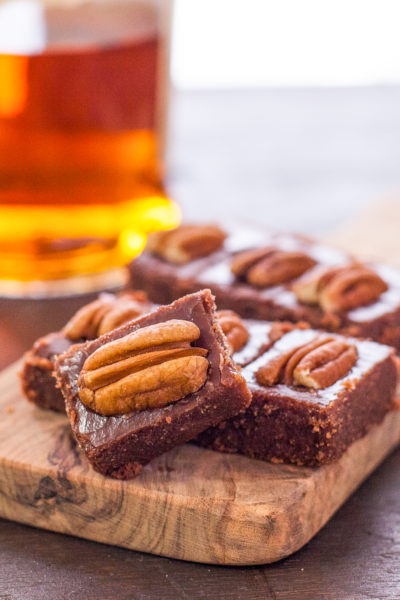 Pecan Bourbon Fudge Recipe is a Boozy Fudgy Treat!