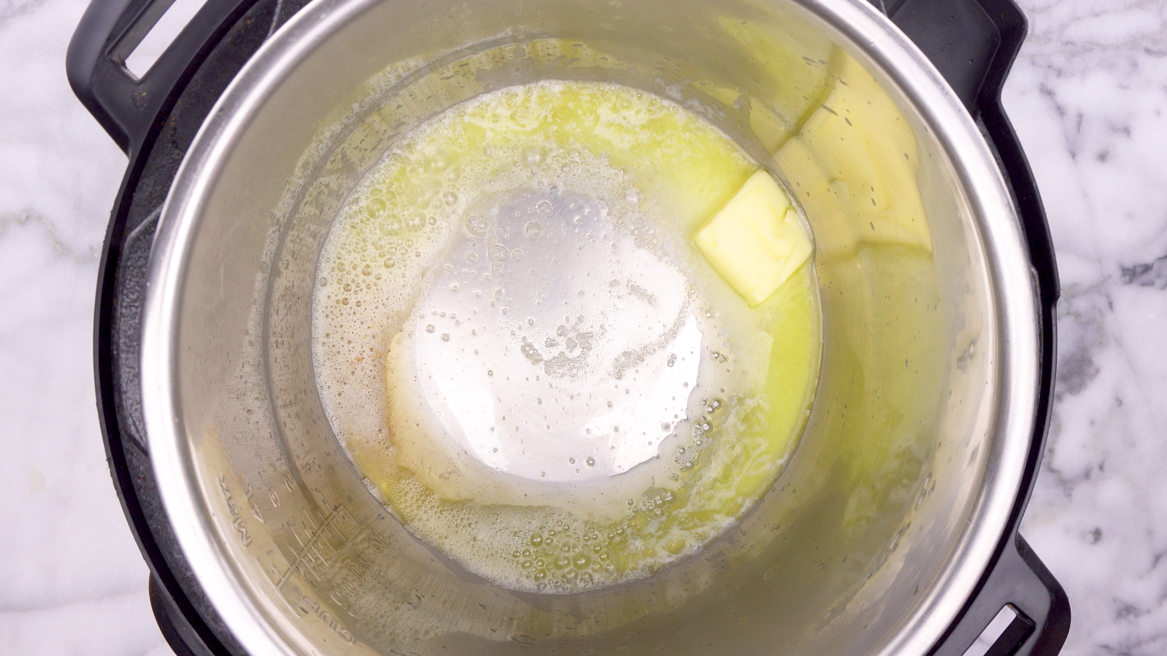 Melting butter in the Instant Pot