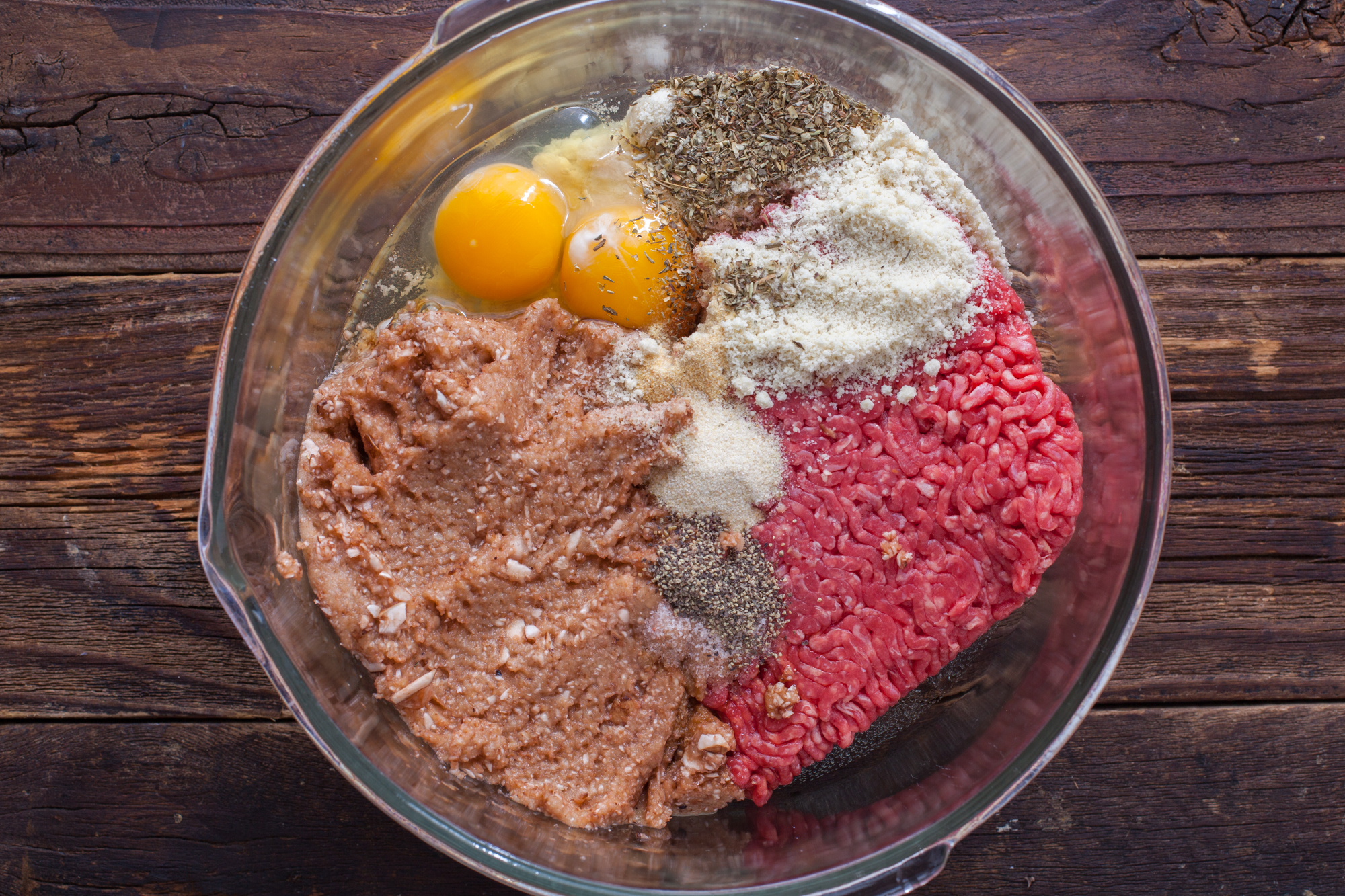 Ingredients for Homemade Meatballs