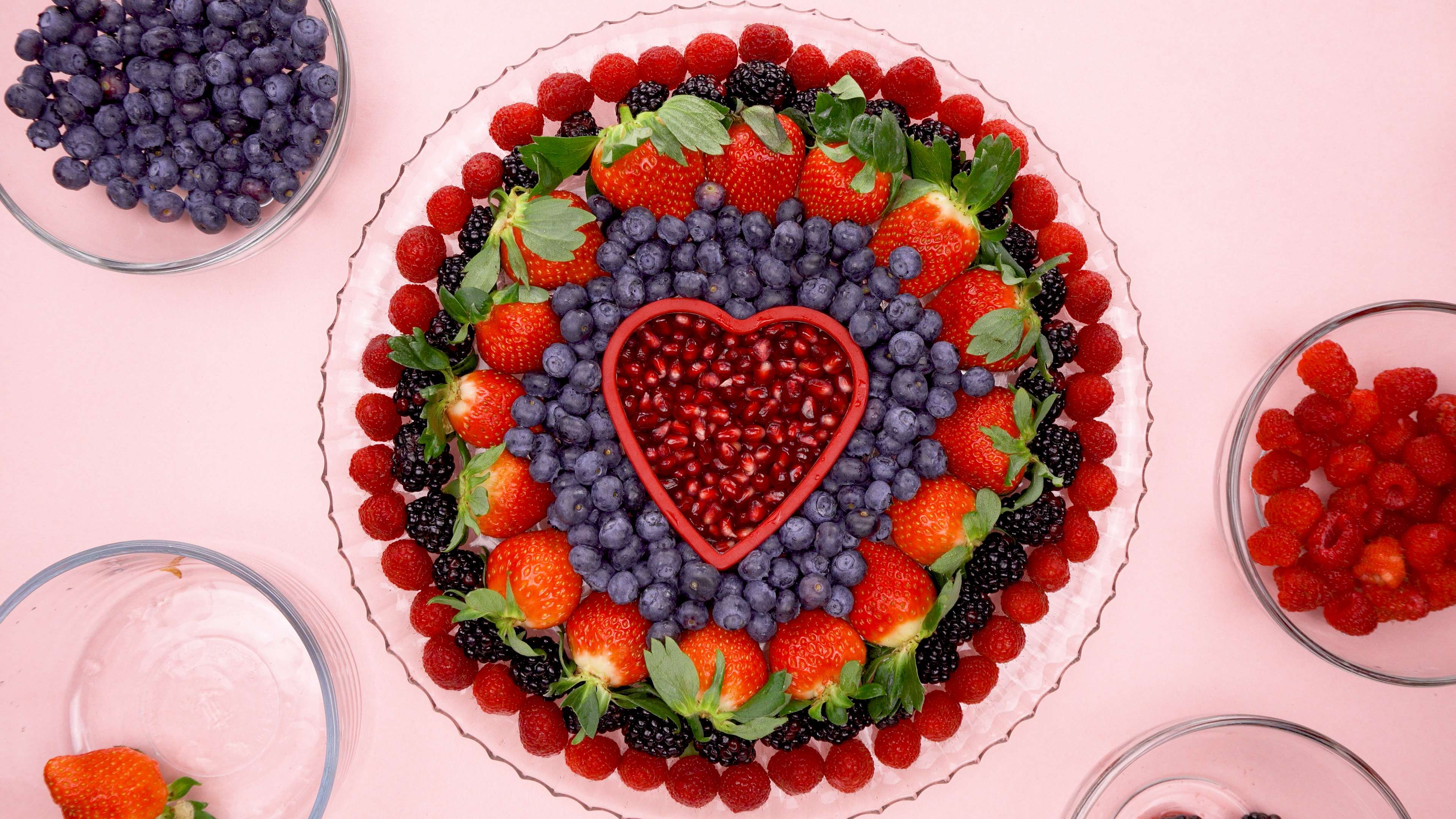 Easy Fruit Tray with a heart cookie cutter