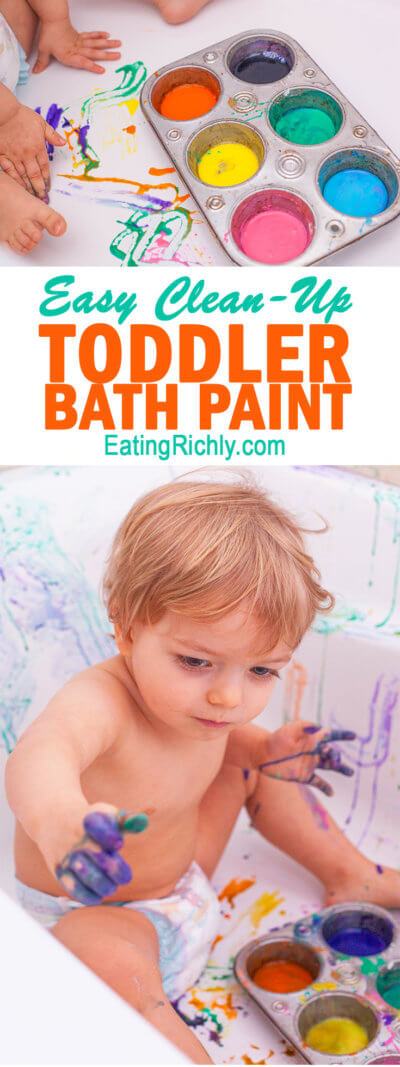 Toddler Paint Bath
