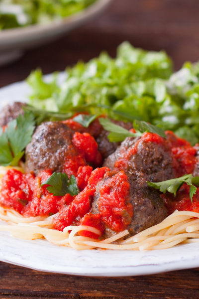 Homemade Meatballs Spaghetti