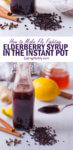 Elderberry syrup is an easy, all natural, immunity boosting home remedy that studies have shown can help shorten the effects of the flu. This elderberry syrup recipe uses the Instant Pot so that your syrup is ready in under an hour!