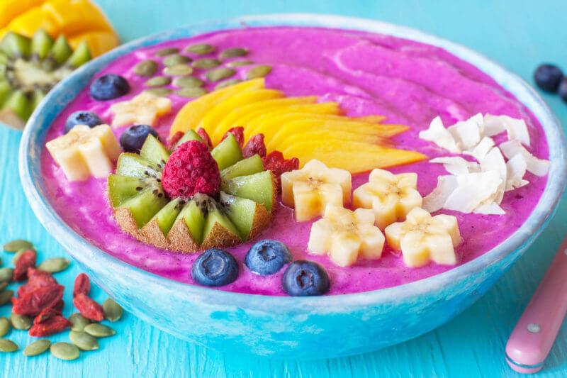 Pink Dairy Free Smoothie Bowl Recipe