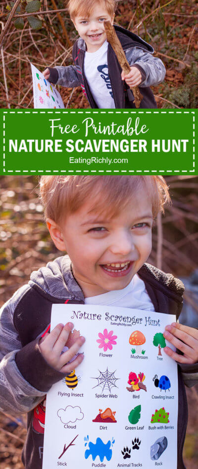 Nature Scavenger Hunt Printable for Kids