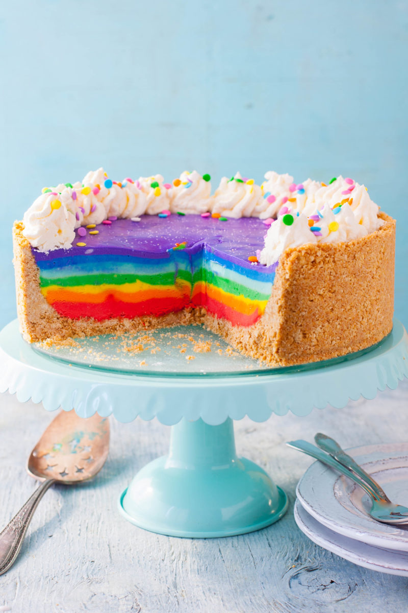 Rainbow Cheesecake Recipe
