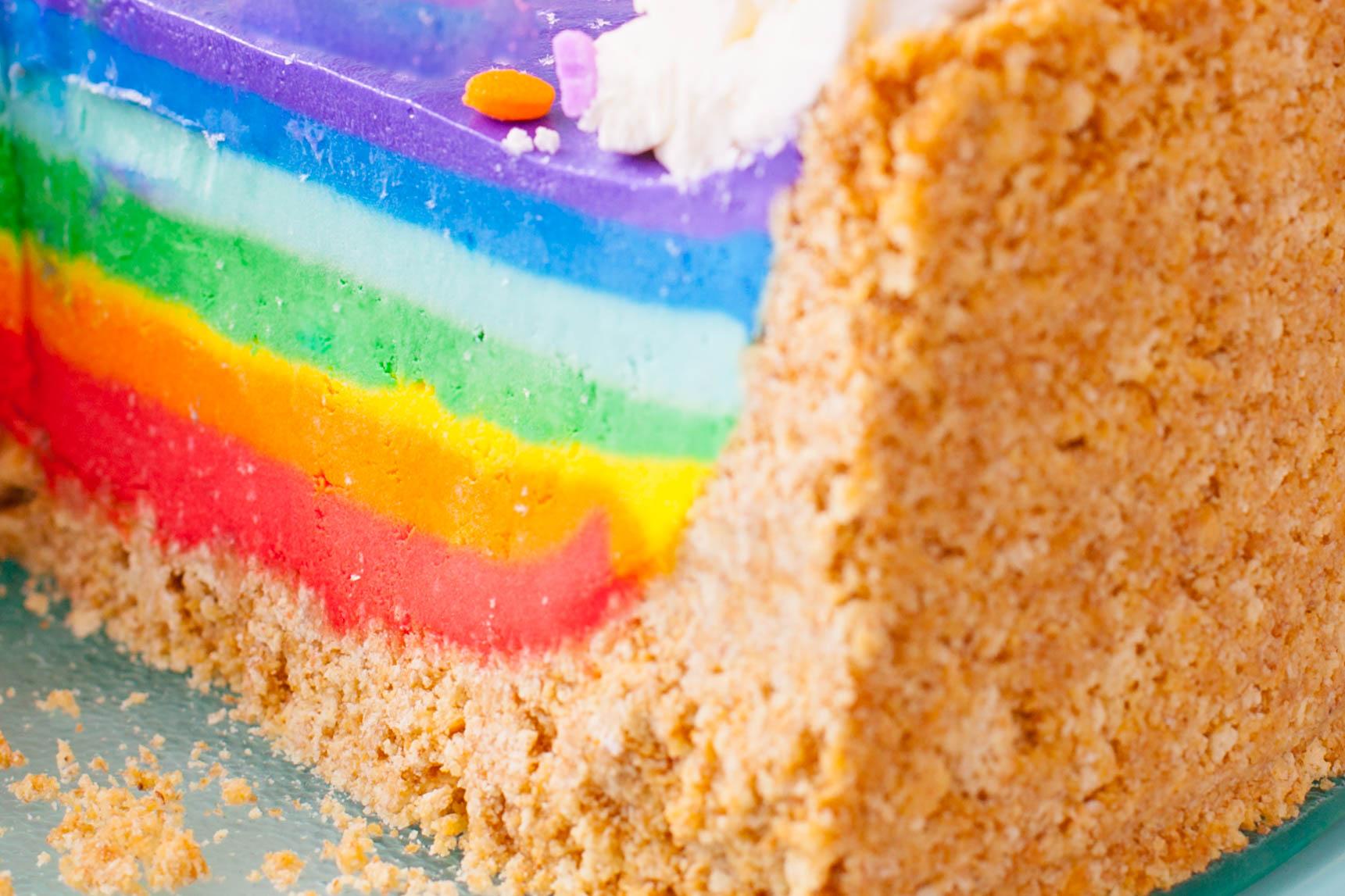 Rainbow Cheesecake Recipe Is No Bake And Gelatin Free