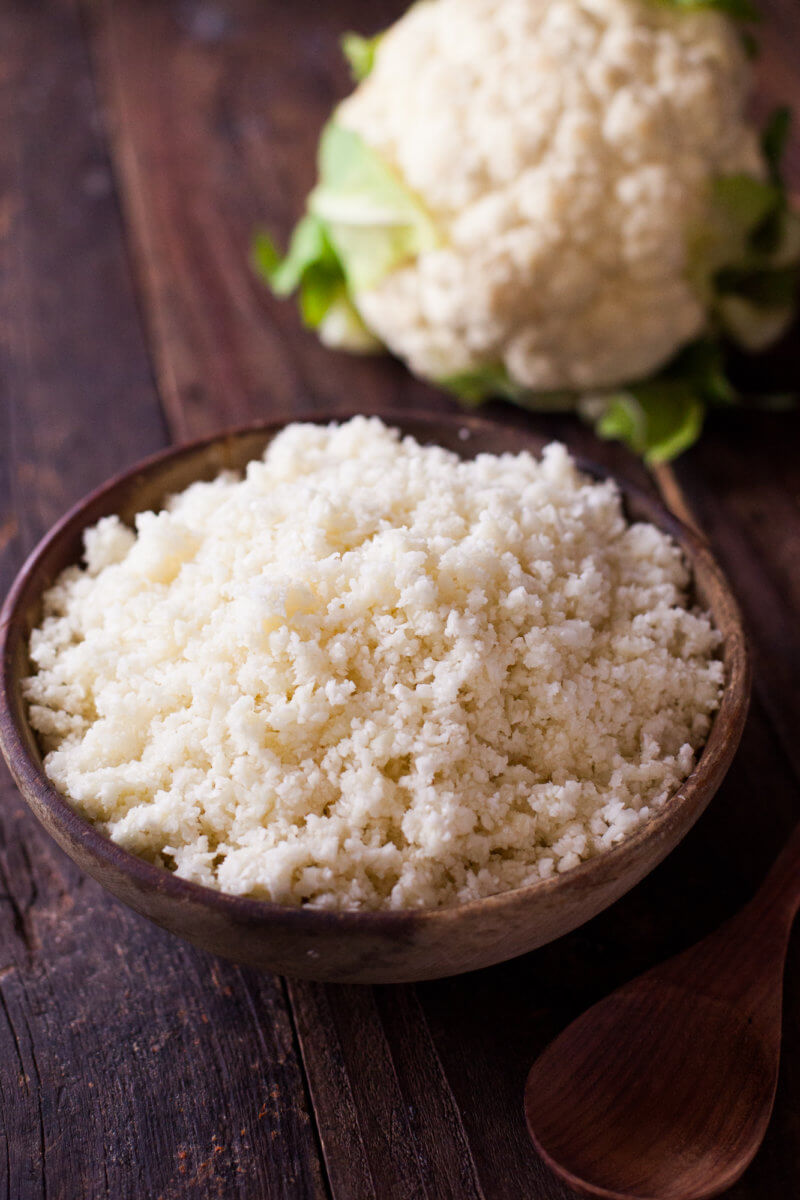 cauliflower rice in a bowl