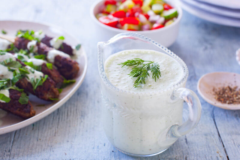 tzatziki sauce recipe in a jar