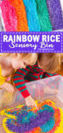 How to make a rainbow rice sensory bin
