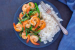 Shrimp and Asparagus Stir Fry with Rice
