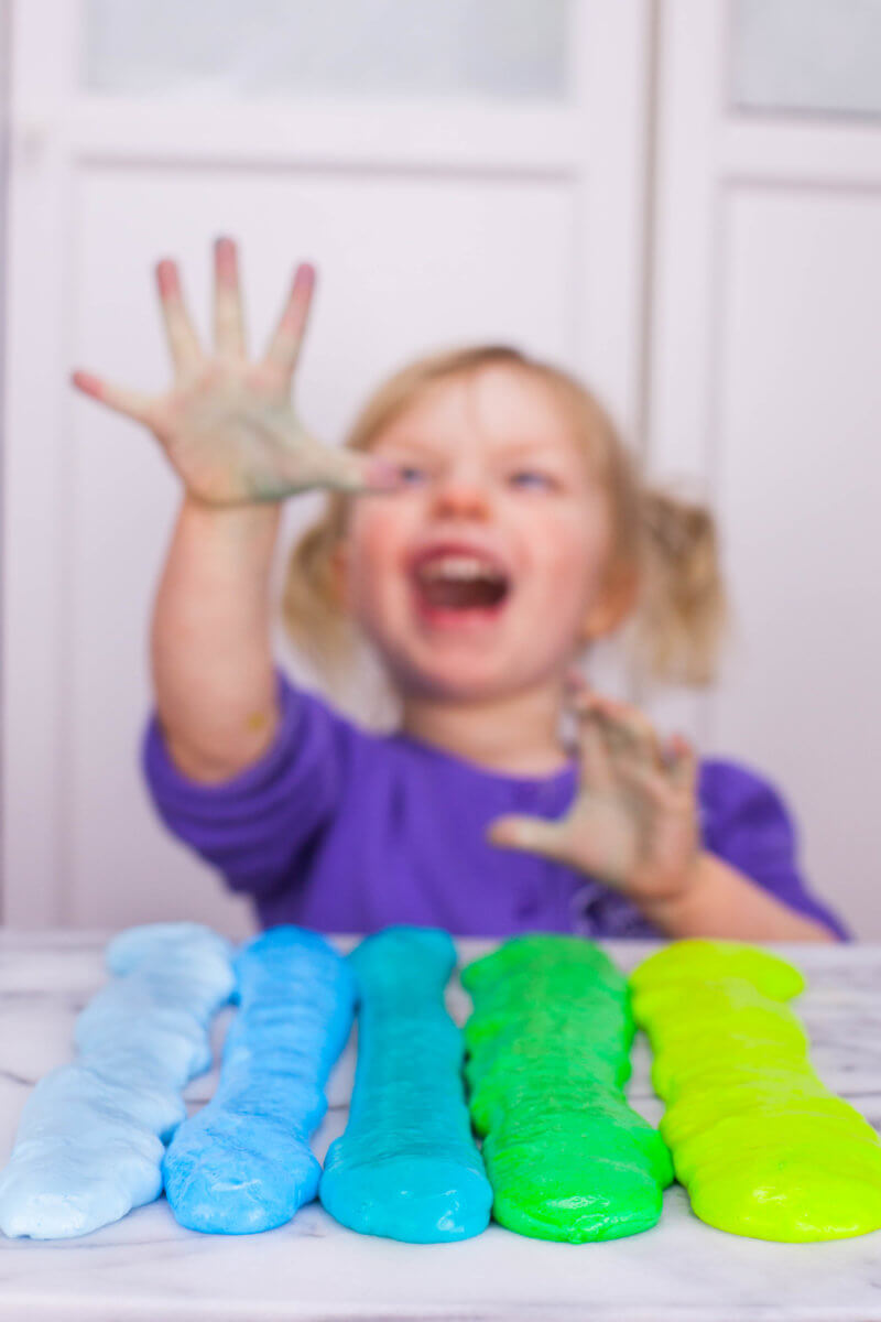 toddler counting slime