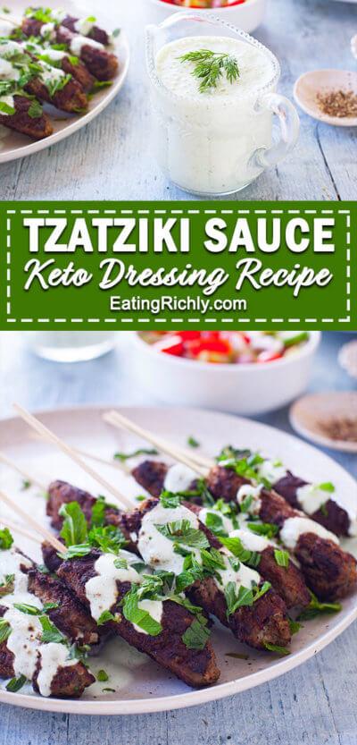 tzatziki sauce low carb dressing