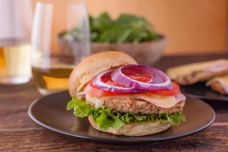 Chicken Cordon Bleu Burger Easy Grilled Chicken Burger Recipe