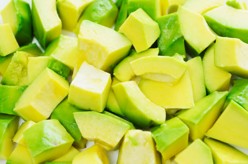 Chopped Avocado Chunks