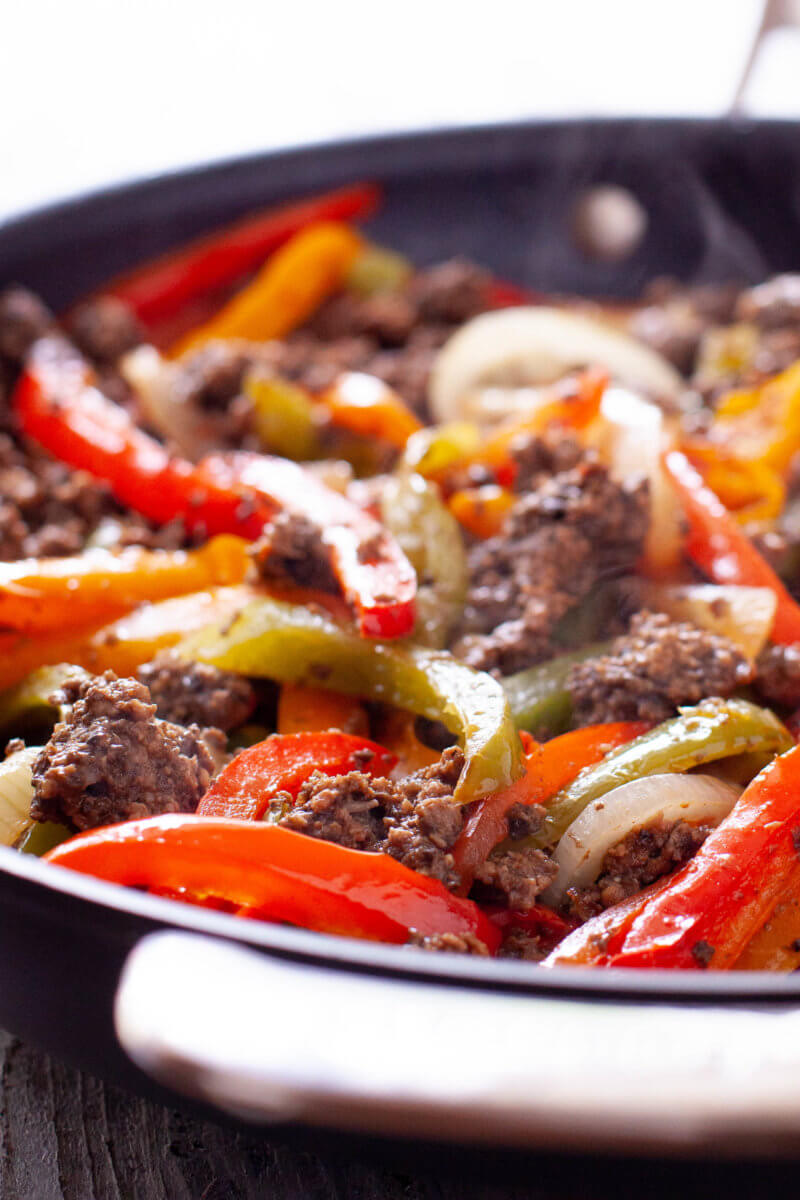 Ground Beef Fajita Filling
