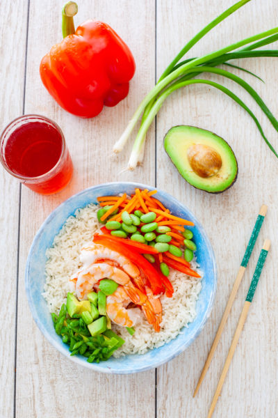 Easy 5 minute rice bowl recipe