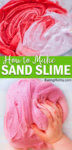 This sand slime recipe combines our perfect fluffy slime with brightly colored sand to make a fun textured slime that provides hours of sensory play.