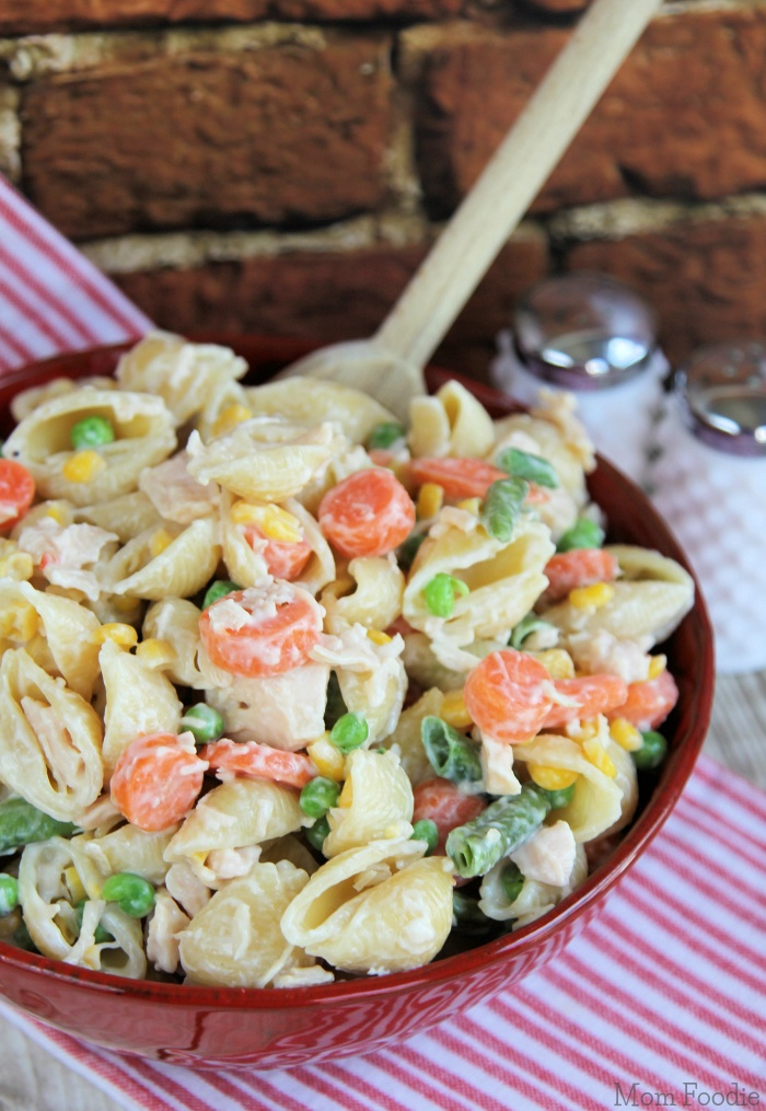 Chicken Pasta Salad camping lunch