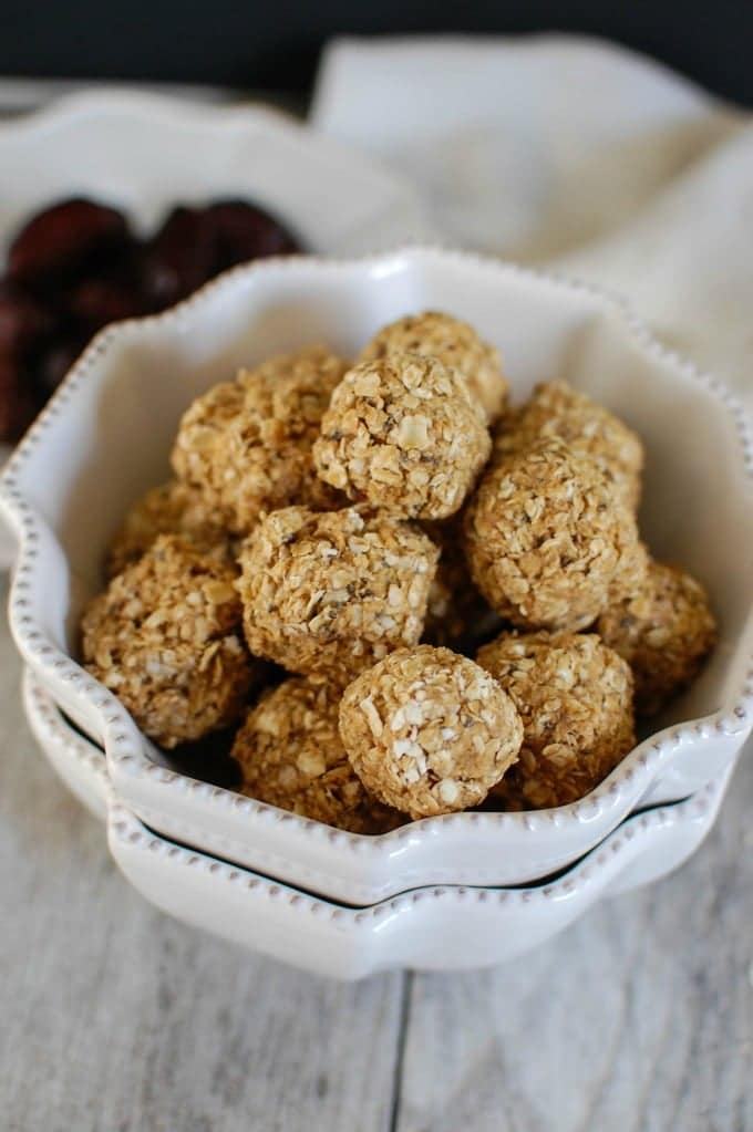 Peanut Butter Oatmeal No Bake Bites for Camping Dessert