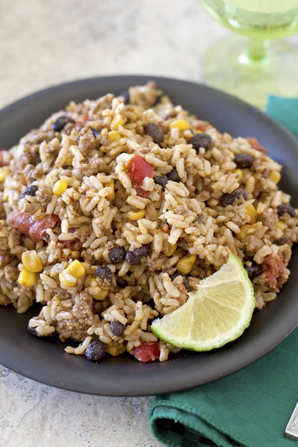 Beef Mexican Rice Camping Food for Kids