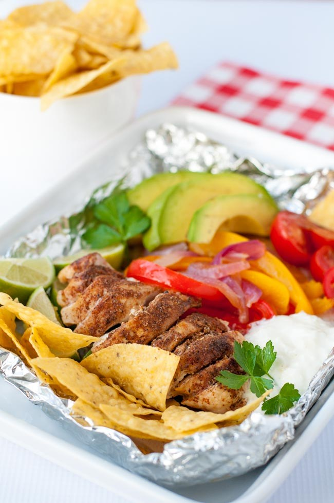 Chicken Fajita Foil Packets and Best Camping Food for Kids