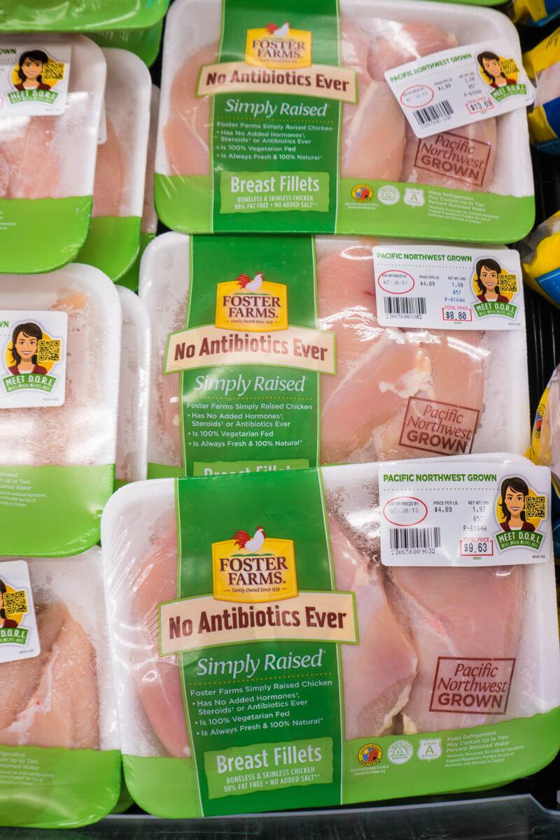 Foster Farms Chicken with DORI™ QR code