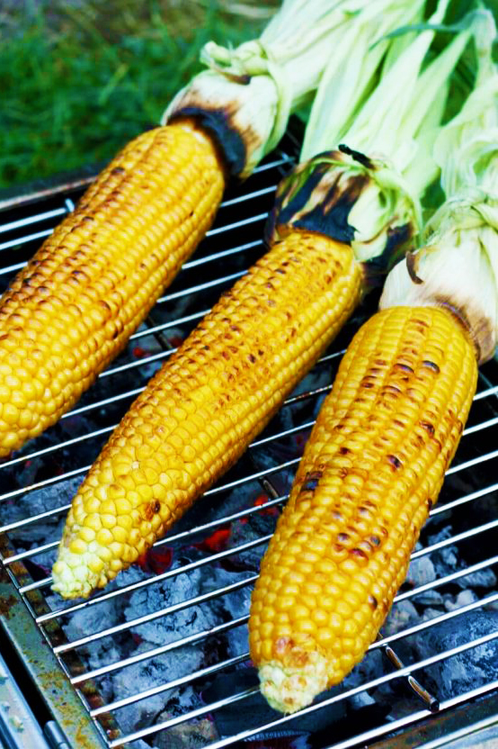 Grilled Corn on the Cob Camping Food for Kids
