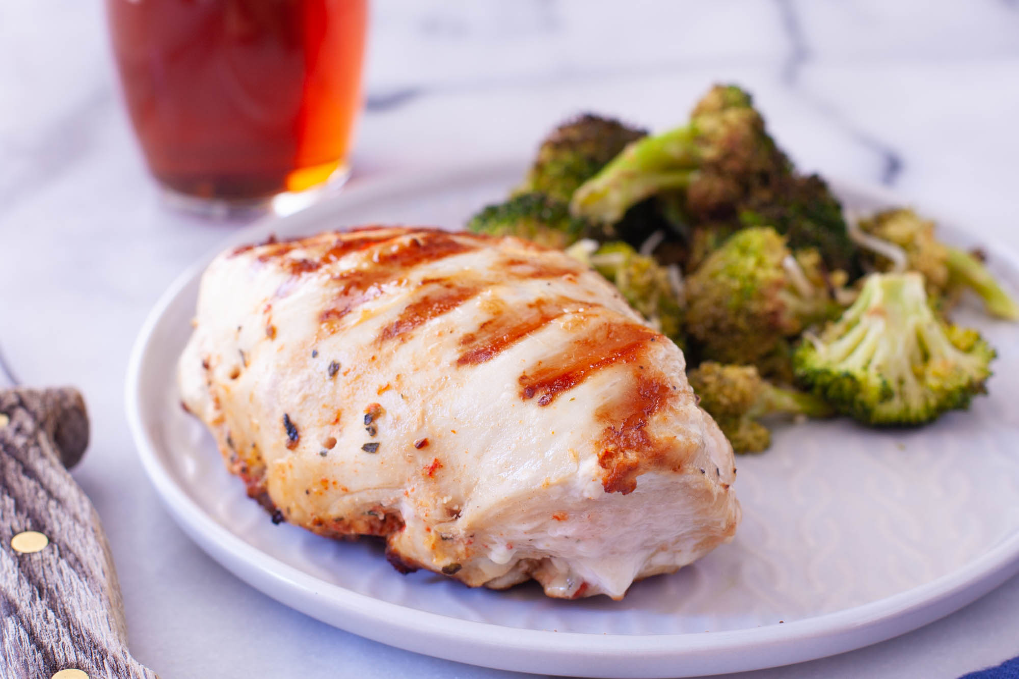 Mediterranean Keto Stuffed Chicken Breast Grilled