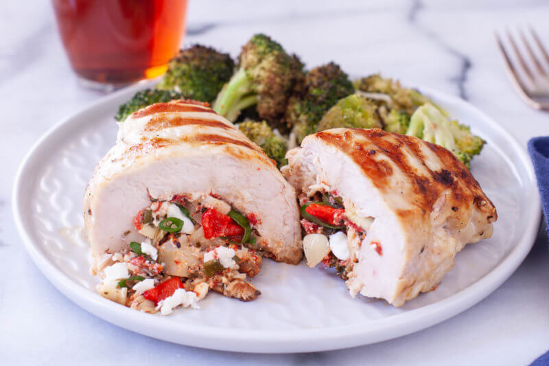 Mediterranean Stuffed Chicken Keto