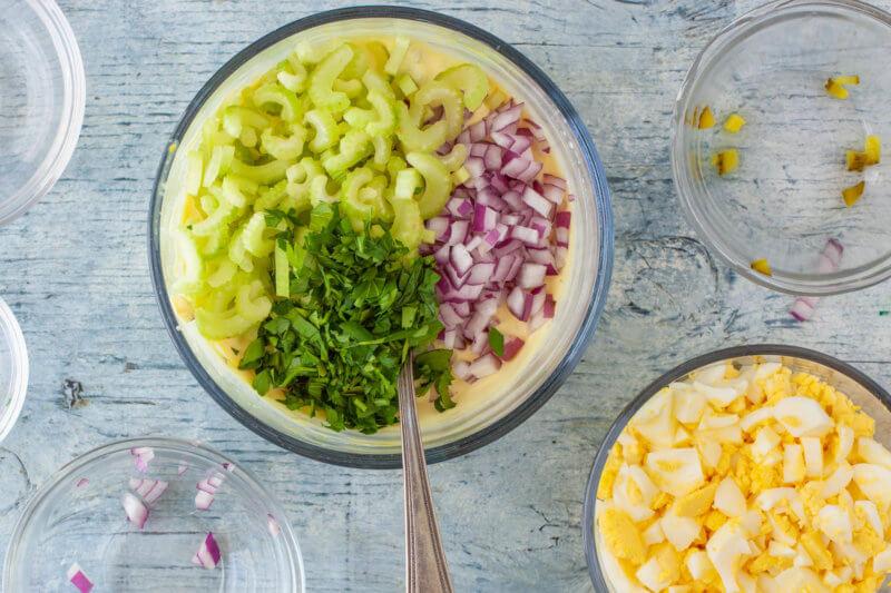 Making Red Potato Salad Dressing