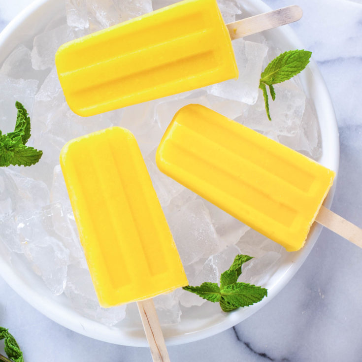 Pineapple Mango Popsicles