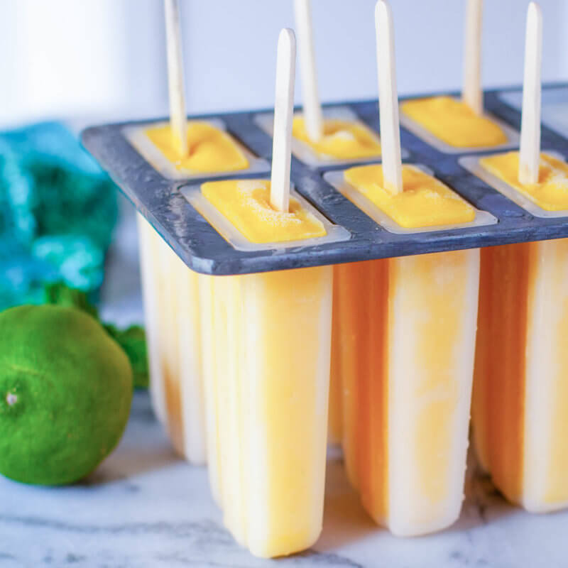 Mango Popsicles in Popsicle Mold
