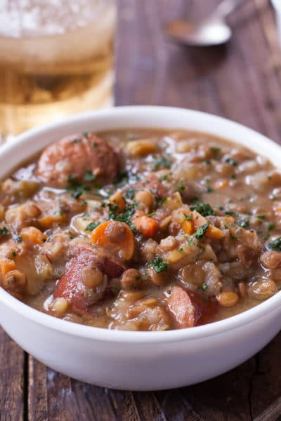 Instant Pot Lentil Soup with Sausage