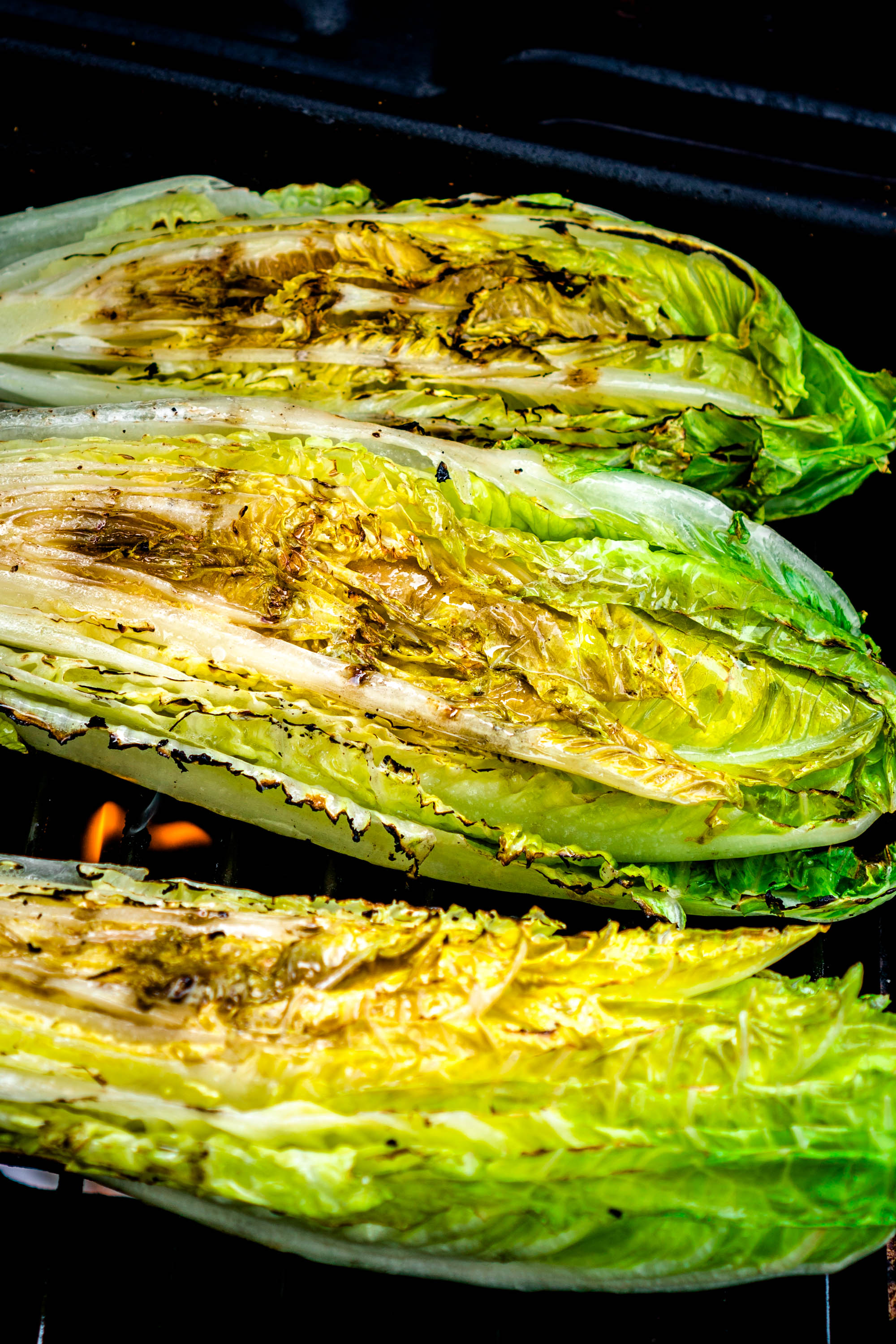 How to Grill Romaine Hearts
