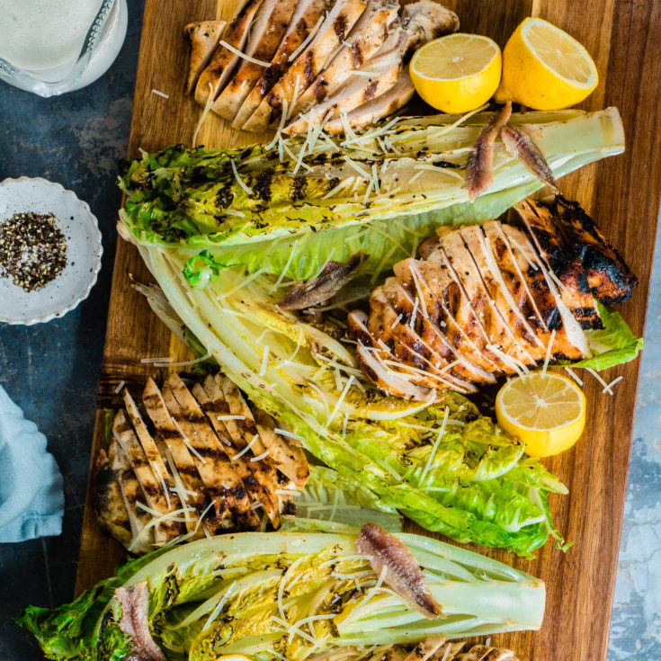 Grilled Romaine Hearts Salad