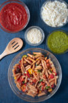 Sauces and Cheese for Vegetable Pasta Bake