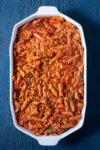 Vegetable Pasta Bake in Casserole Dish