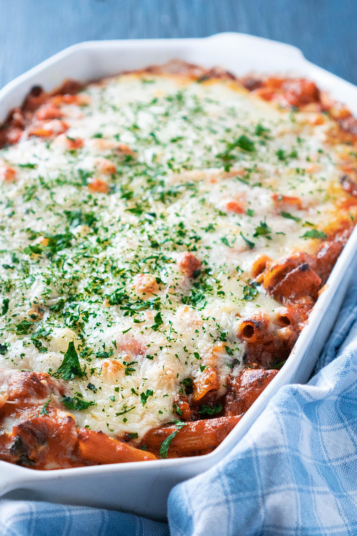 Vegetable Pasta Bake Casserole