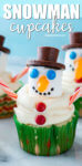 It's easy to turn your favorite cupcake recipe into cute holiday snowman cupcakes using marshmallows and candy. #christmas #christmasbaking #baking #holidaybaking #ediblegift #cupcakes #christmas cupcakes #snowman #snowmen #cutefood