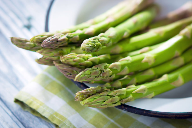 Raw Asparagus for Asparagus Quiche