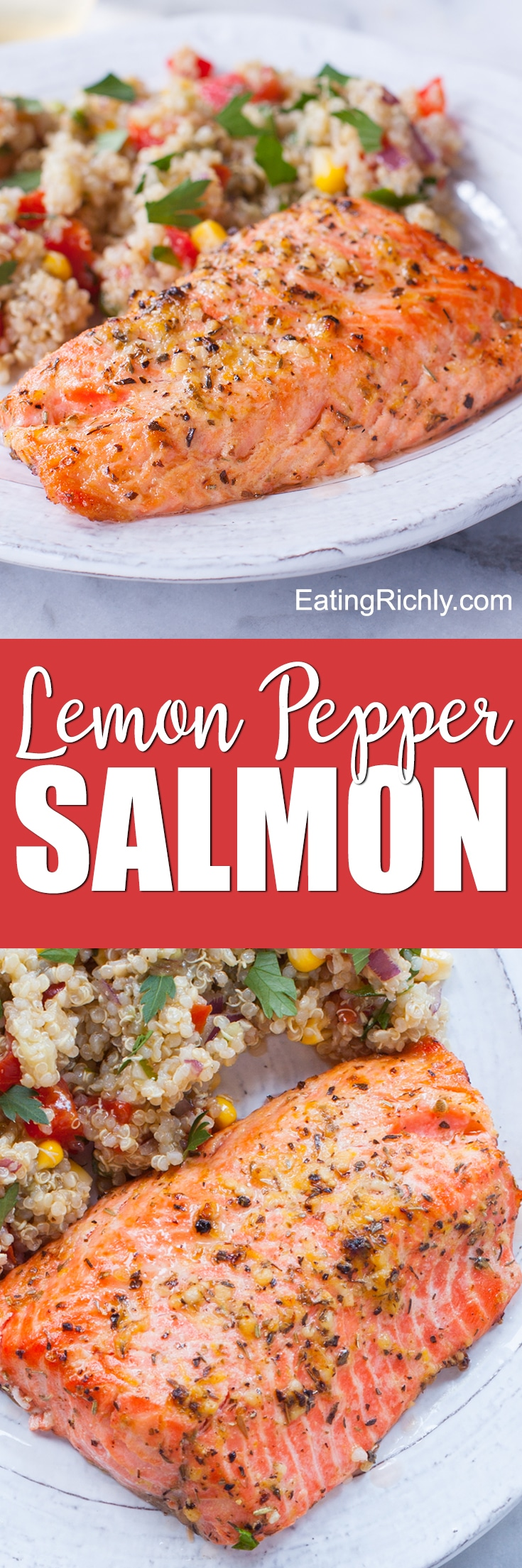 Healthy Lemon Pepper Salmon Recipe
