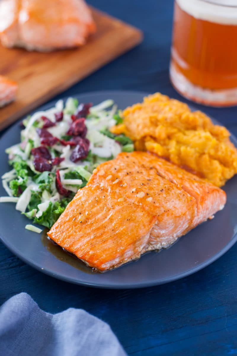 Grilled Honey Glazed Salmon