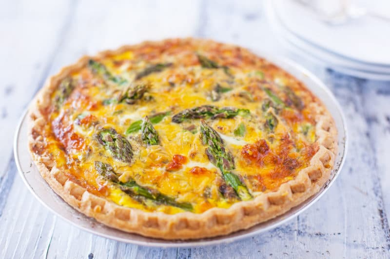 Baked Asparagus Quiche