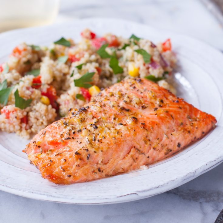 Broiled Lemon Pepper Salmon