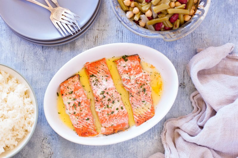 Easy microwave salmon