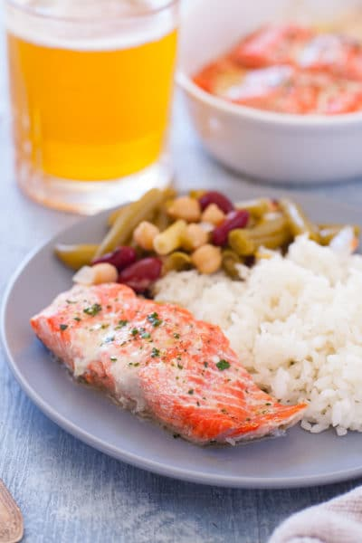 Microwave Salmon Dinner