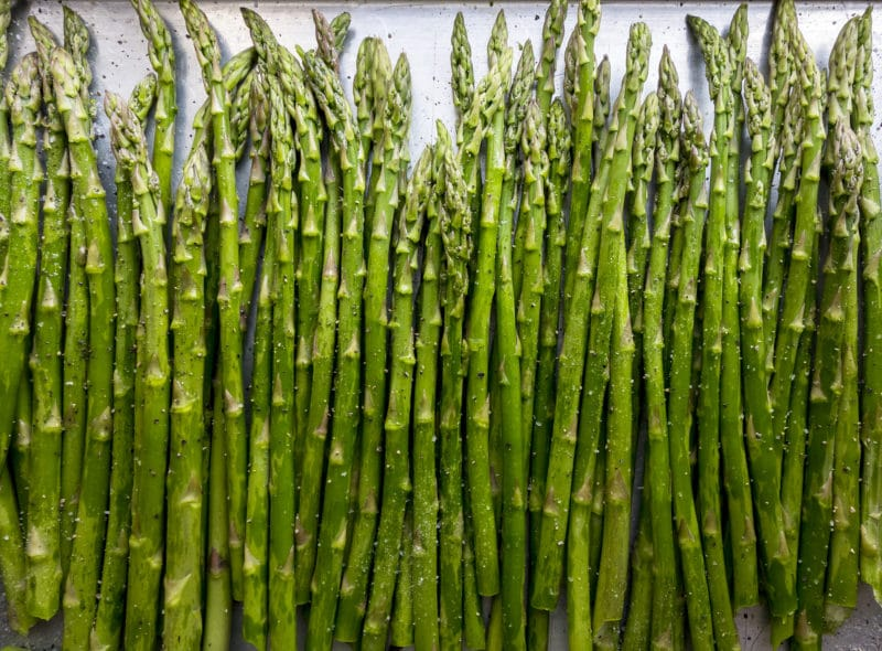 Asparagus Seasoned for Roasting